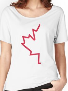 Red half maple leaf Women's Relaxed Fit T-Shirt