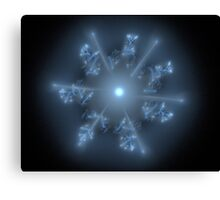 Fractal 29 blue star  Canvas Print
