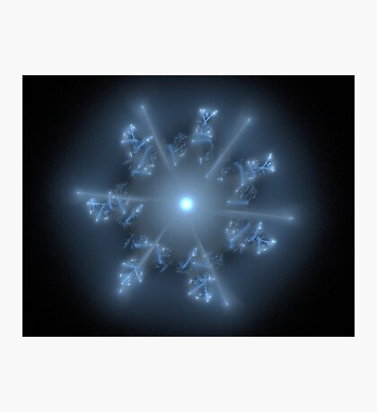 Fractal 29 blue star  Photographic Print