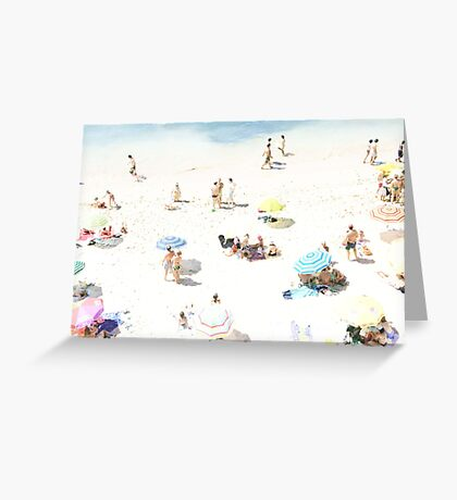 Beach - happy days Greeting Card