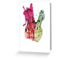 Two Fingers Sign Greeting Card