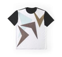 Mid Century Modern Boomerang Pattern - Collage Graphic T-Shirt