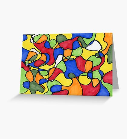 Picasso's Mirror Abstract Greeting Card