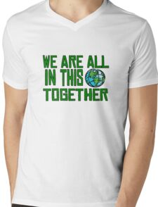 Planet Earth Nature Quotes Beautiful Inspirational  Mens V-Neck T-Shirt