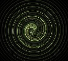 Fractal 31 green spiral by Henrik Lehnerer