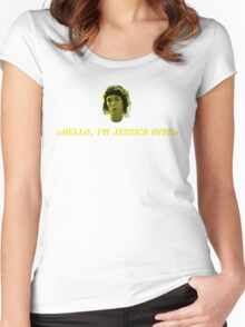 Hello, I'm Jessica Hyde. Women's Fitted Scoop T-Shirt