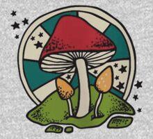 Mushroom One Piece - Short Sleeve