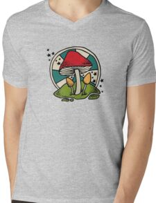 Mushroom Mens V-Neck T-Shirt