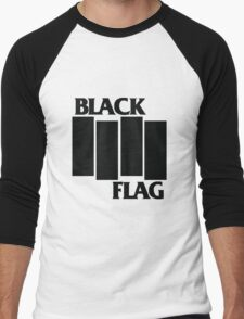 Black Flag Shirt Men's Baseball ¾ T-Shirt