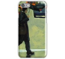 Rainy Day Business - Figurative City Oil Painting iPhone Case/Skin