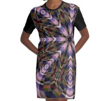 Kaleidoscope Graphic T-Shirt Dress