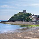 Criccieth Castle and Beach by hootonles