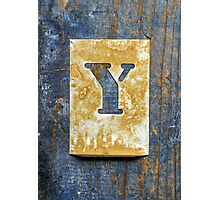 Letter Y Photographic Print