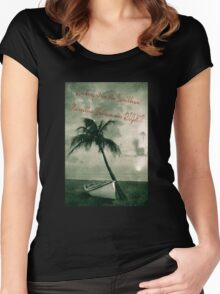 Kicking it in the Caribbean! Women's Fitted Scoop T-Shirt