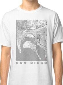 San Diego Map Line Classic T-Shirt