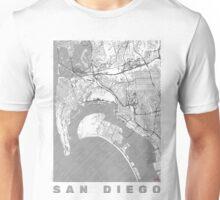 San Diego Map Line Unisex T-Shirt