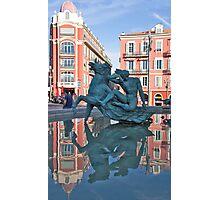 Place Messena Fountain Photographic Print