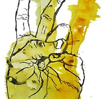 Peace Fingers Print by RobinLeverton