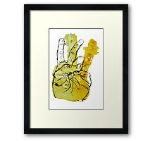 Peace Fingers Print Framed Print