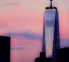 Freedom Tower at sunrise Sticker