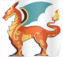 Charizard horse Poster