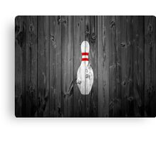 Bowling Pin - Wood Canvas Print