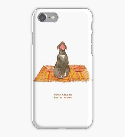cattism 32: never take no for an answer iPhone Case/Skin