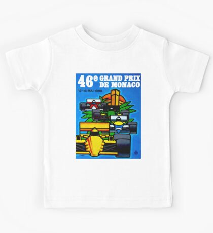 """MONACO"" Vintage Grand Prix Auto Print Kids Tee"