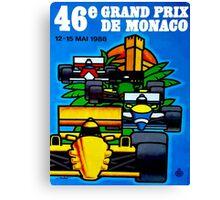 """MONACO"" Vintage Grand Prix Auto Print Canvas Print"