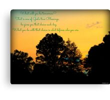 Reflections At The End of the Day Canvas Print