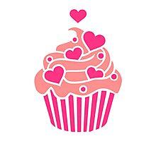 Cupcake hearts Photographic Print
