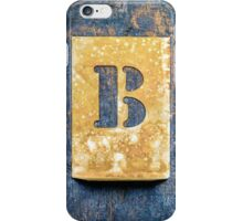 Letter B iPhone Case/Skin