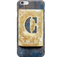 Letter C iPhone Case/Skin
