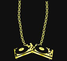 GOLD TURNTABLE NECKLACE Unisex T-Shirt
