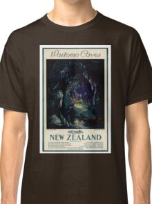 New Zealand Vintage Travel Poster Classic T-Shirt