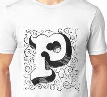 Block Alphabet Letter P Unisex T-Shirt