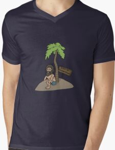 Island of Rational Thought Mens V-Neck T-Shirt