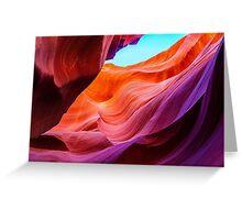 The purple rock at Antelope Canyon, Arizona Greeting Card