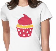 Red Cupcake Womens Fitted T-Shirt