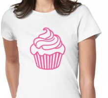 Pink cupcake Womens Fitted T-Shirt