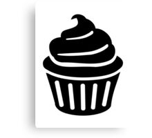 Black cupcake logo Canvas Print