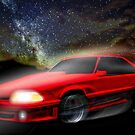 90 Ford Mustang 5.0 and The Midnight Chase by ChasSinklier