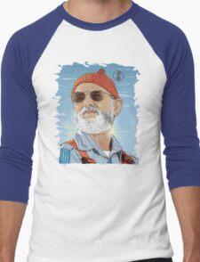 Bill Murray as Steve Zissou Illustrated Portrait Men's Baseball ¾ T-Shirt