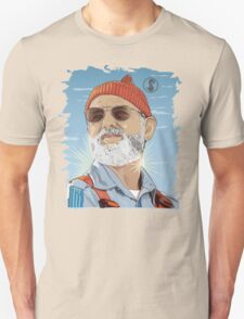 Bill Murray as Steve Zissou Illustrated Portrait T-Shirt