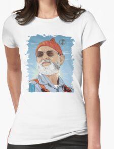 Bill Murray as Steve Zissou Illustrated Portrait Womens Fitted T-Shirt