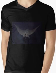 Eagle Ray In Flight Mens V-Neck T-Shirt