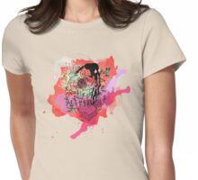 Boriken Taino Heart Watercolor Splash Womens Fitted T-Shirt