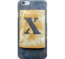 Letter X iPhone Case/Skin