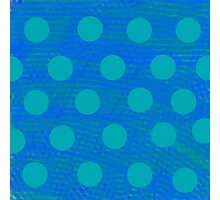 Blues Dots  Photographic Print