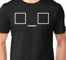 Nerdy Eyes Funny Emoticon Unisex T-Shirt
